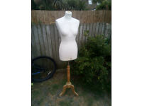 Vintage dressmakers/shop display dummy.