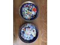 2 Rosenthal Aladdin series plates vintage gold collectable crockery