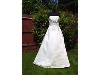 UK Size 12 Handmade Designer Alfred Angelo Stunning Ivory Wedding Dress