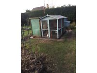 Chicken house and run, 3 laying hens plus food and vitamins for sale.