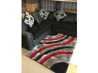 Large Black /Grey/ White Scattered Cushion Corner Suit