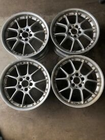 4 x BBS 18 INCH, 10 SPOKE, 20 STUD ALLOY WHEELS (MERCEDES)