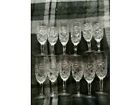 12 glass flutes