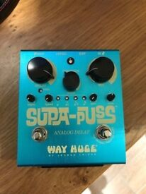 Way Huge Supa-Puss Analog Delay Pedal with tap tempo.