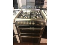 60CM STAINLESS STEEL HOTPOINT DUEL FUEL GAS COOKER