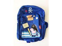 Peppa Pig George Pirate Rucksack Backpack as NEW