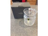 """Brand new unwanted wedding present - Waterford Crystal Colleen 6.25"""" biscuit barrell"""