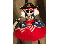 Age 3-4 girls pirate costume