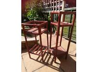 2 x Cane Plant Stands