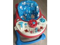 Musical car baby walker