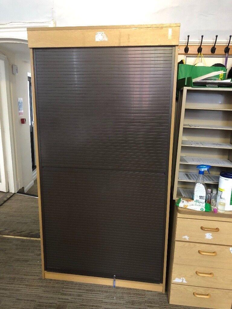Large Roller Door Storage Cupboard
