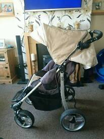 Special tomato eio pushchair with raincover