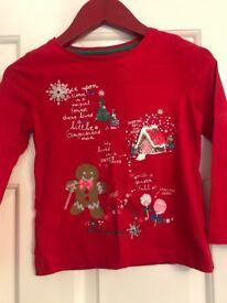 Girls Christmas long sleeve top age 3-4