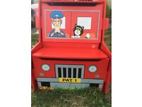 Postman Pat Van Wooden Toy Storage Box