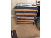 Foldaway single guest bed