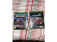 Xbox games Mud Runner American wilds and project cars 2
