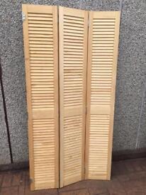 Pine louvre doors ( brand new )