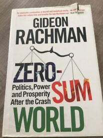 Zero Sum World by Gideon Rachman