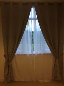Set of designer curtains