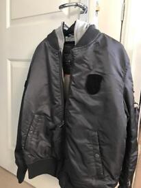 Jack Jones Men's Grey Bomber Jacket (M)
