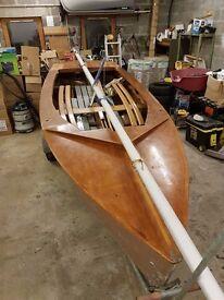 GP14 wooden sailing dinghy for sale