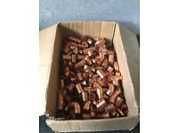 Job lot 200 endfeed 22mm copper plumbing fittings