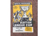 1954 Scottish cup football semi final programme in mint condition.