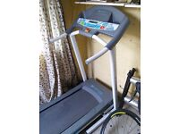 Decathlon running treadmill with motorised incline (foldable and moveable)