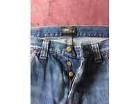 Lee Ripley buttonfly jeans 32W32L