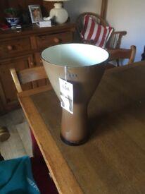 Large brown LSA vase
