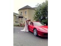Ferrari super car wedding hire.