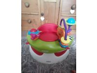 Mamas and papas Bumbo with table and activity tray