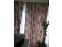 Beige and chocolate curtain