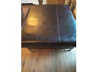 Ikea Kramfors large leather footstool / pouffe / Seat