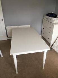 Extendable ikea dining table and bench