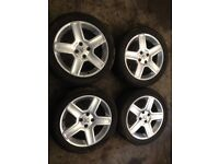 17 inch Peugeot alloy wheels and tyres set of 4