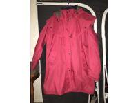 Ladies waterproof coat