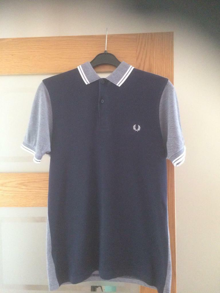 Men's Fred Perry Polo Top Size S