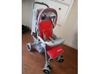 Pram Pushchair Red/silver good condition,clean just £5