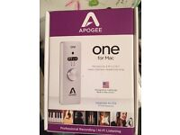 Apogee One recording interface for Mac as new unused