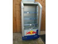 red bull drinks chiller. open fronted fridge. ideal for shop. good working order