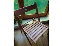 4 folding Terje chairs-unused