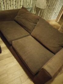 2 Seater Brown Sofa. Super comfy. £30 Collection Only. Proceeds to Charity.