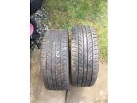 2 x 205/45/16 Tyres