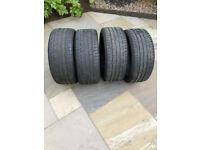 Car Tyres - 4 off part worn Bridgstone Potenza 225/40/R18