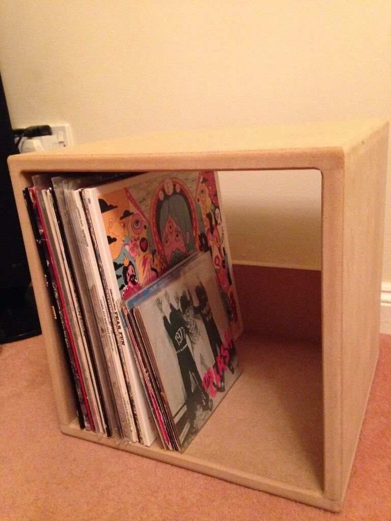 Wooden Vinyl Record Storage Cube In Plympton Devon