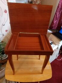 Musical Sewing/Side table with Lid. Reduced to £15