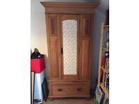 Beautiful vintage wooden wardrobe