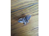 Fine filigree butterfly broach