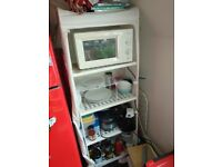 IKEA Shelving Unit - Metal with cover